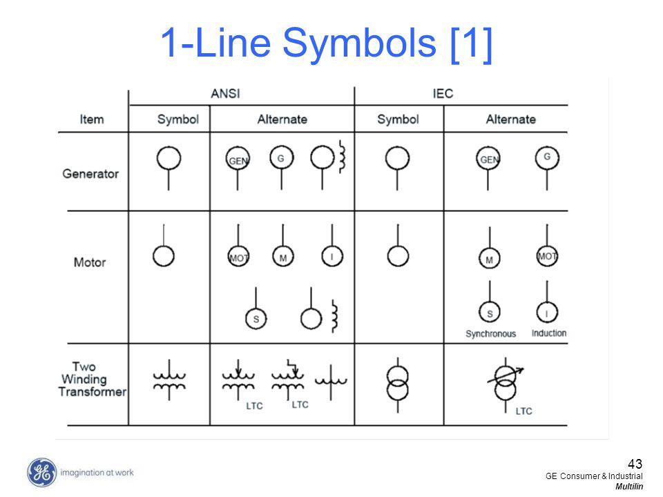 1-Line Symbols [1] 43 GE Consumer & Industrial Multilin